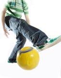 Habilidades do futebol Fotografia de Stock Royalty Free