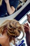 Habillage de cheveux image libre de droits