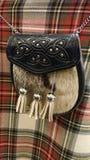Habillement écossais traditionnel de kilt d'escarcelle image libre de droits
