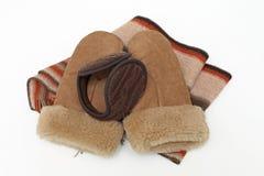 Habillement chaud d'accessoires d'hiver photographie stock
