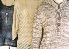 Habillement de dames de chute de mode de knit de laine Images libres de droits