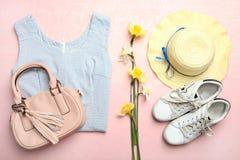 Habillement et accessoires du ` s de femmes Image stock