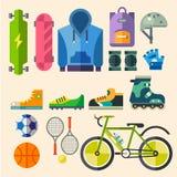 Habillement et chaussures pour la récréation active Image libre de droits