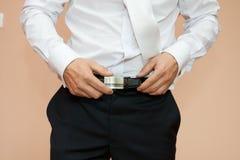 Habillez une ceinture avec la boucle Photographie stock
