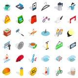 Habit icons set, isometric style Stock Image