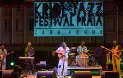 Habit Koite. CAPE VERDE, PRAIA - APR 11: Habit Koite (Mali) performs at the Kriol Jazz Festival in April 11, 2014 in Cape Verde, Praia Royalty Free Stock Photos