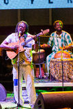 Habit Koite. CAPE VERDE, PRAIA - APR 11: Habit Koite (Mali) performs at the Kriol Jazz Festival in April 11, 2014 in Cape Verde, Praia Royalty Free Stock Photography