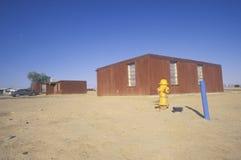 Habitação social na reserva indígena em Shiprock, nanômetro do Navajo fotografia de stock