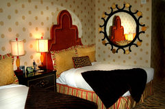 Habitación de hotel de lujo Imágenes de archivo libres de regalías