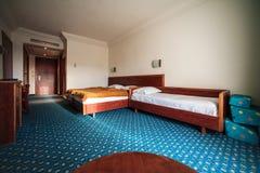 Habitación de hotel moderna Fotos de archivo
