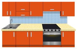 Habitación de la cocina Imagen de archivo libre de regalías