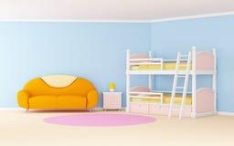 Habitación del niño suave ilustración del vector