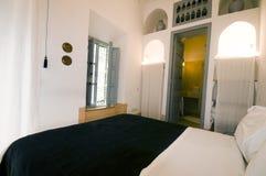 Habitación en casa del hotel del riad en Marrakesh Marruecos Fotografía de archivo libre de regalías