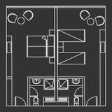 Habitación gemela y doble estándar Fotografía de archivo libre de regalías