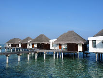 Habitaciones maldivas Foto de archivo
