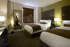 Habitaciones y cuartos de huésped en un hotel del boutique Imagen de archivo libre de regalías