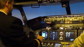Habitacle d'avions civils banque de vidéos