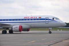 Habitacle de lignes aériennes de Belavia Photo libre de droits