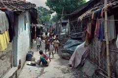 Habitantes de los tugurios de la Kolkata-India Imagenes de archivo