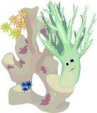 Habitantes del acuario marino stock de ilustración