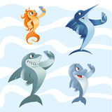 Habitantes del mar que hacen el selfie Fotografía de archivo libre de regalías