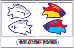 Habitantes marinos que colorean pages6 stock de ilustración