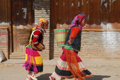 Habitants de Yi dans le sud-ouest Chine Photographie stock