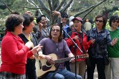 Habitants heureux de Pékin Images libres de droits