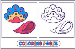 Habitants marins colorant pages2 Images libres de droits
