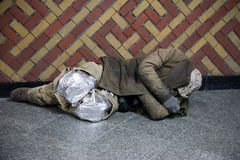 Habitants sans abri de Séoul Photos stock