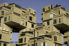 Habitat 67 de Montréal Images libres de droits