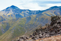Habitat alpino della tundra nella gamma di alta montagna fotografia stock