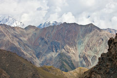 Habitat of the Asian ibex in the Tian Shan mountains Royalty Free Stock Images