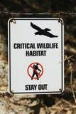 Habitat crítico de la fauna - retén hacia fuera imagen de archivo