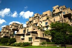 Habitat 67 in Montreal in Canada Stock Foto's