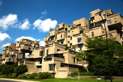 Habitat 67 in Montreal in Canada Stock Photos