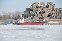 Habitat 67. MONTREAL DEC. 08: A view of Habitat 67 on dec. 08, 2013 in Montreal, Quebec, CA. Habitat 67 is considered a landmark and one of the most recognizable Royalty Free Stock Photography