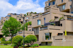 Habitat 67. MONTREAL-SEPT. 08: A view of Habitat 67 on Sept 08, 2013 in Montreal, Quebec, CA. Habitat 67 is considered a landmark and one of the most Royalty Free Stock Images