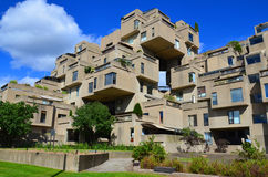 Habitat 67. MONTREAL-SEPT. 08: A view of Habitat 67 on Sept 08, 2013 in Montreal, Quebec, CA. Habitat 67 is considered a landmark and one of the most Stock Photography