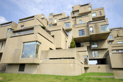 Habitat 67. MONTREAL-SEPT. 03: A view of Habitat 67 on Sept 03, 2012 in Montreal, Quebec, CA. Habitat 67 is considered a landmark and one of the most Stock Image
