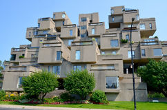 Habitat 67. MONTREAL-SEPT. 08: A view of Habitat 67 on Sept 08, 2013 in Montreal, Quebec, CA. Habitat 67 is considered a landmark and one of the most Stock Photo