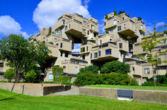Habitat 67. MONTREAL-SEPT. 08: A view of Habitat 67 on Sept 08, 2013 in Montreal, Quebec, CA. Habitat 67 is considered a landmark and one of the most Royalty Free Stock Photography