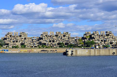 Habitat 67. MONTREAL-SEPT. 03: A view of Habitat 67 on Sept 03, 2012 in Montreal, Quebec, CA. Habitat 67 is considered a landmark and one of the most Royalty Free Stock Photography