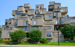 Habitat 67. MONTREAL-SEPT. 08: A view of Habitat 67 on Sept 08, 2013 in Montreal, Quebec, CA. Habitat 67 is considered a landmark and one of the most Royalty Free Stock Photo