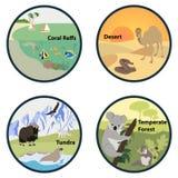 Habitat van de Wereld vectorreeks Stock Foto