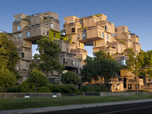 Habitat67. Habitat 67 is an experience that was revealed as being a spectacular achievement impacting on the collective imaginary and contributing in a Royalty Free Stock Photos