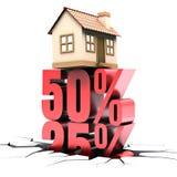 Habitation 50% hors fonction Photographie stock libre de droits