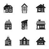 Habitation icons set, simple style Royalty Free Stock Photography