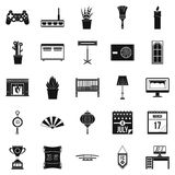 Habitation icons set, simple style Royalty Free Stock Images
