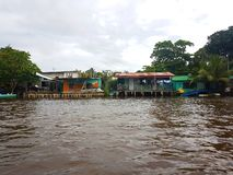 On the River, Tortuguero. Habitation on the River, Tortuguero, Costa Rica royalty free stock photography